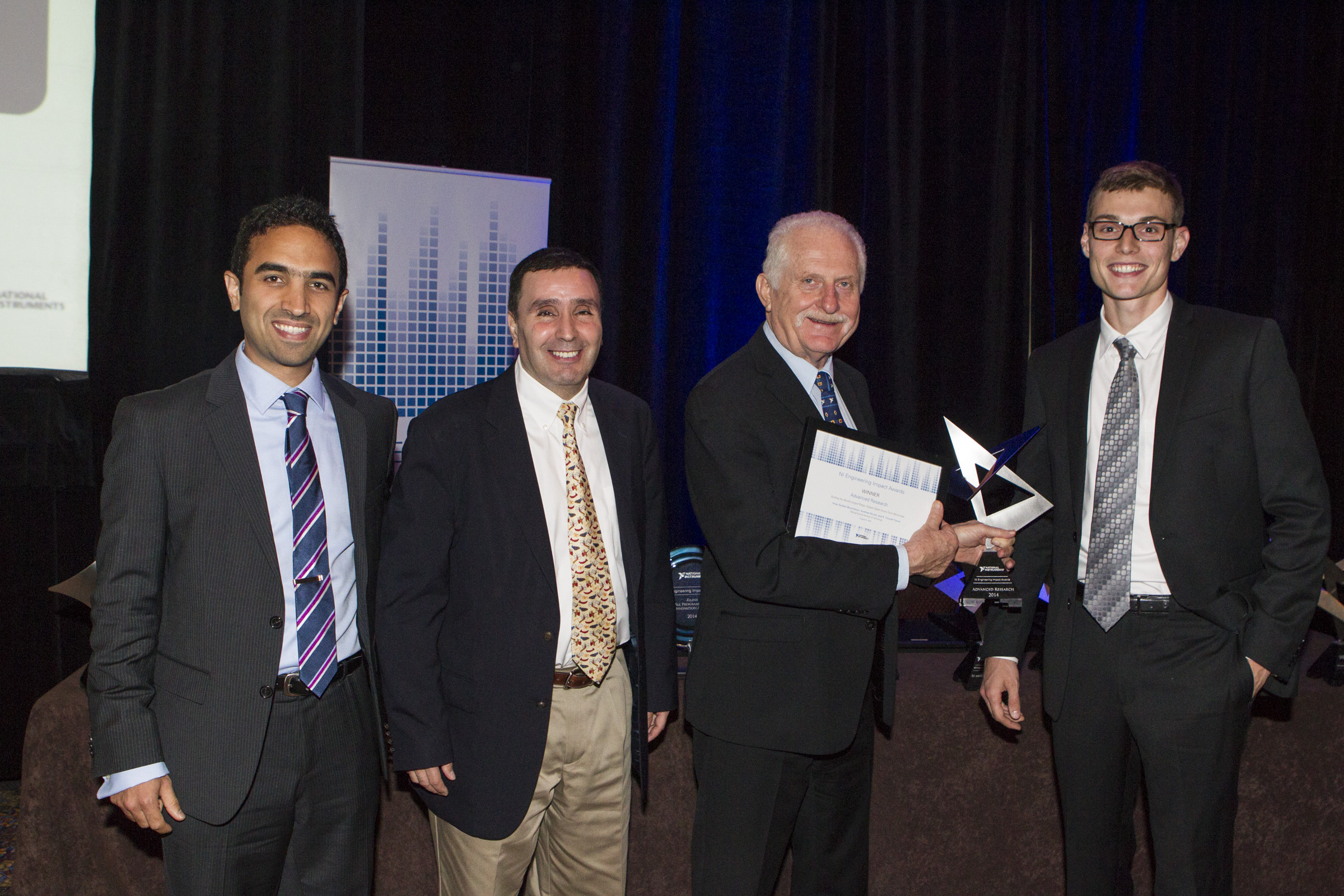AFM team won 2014 National Instruments Engineering Impact Awards